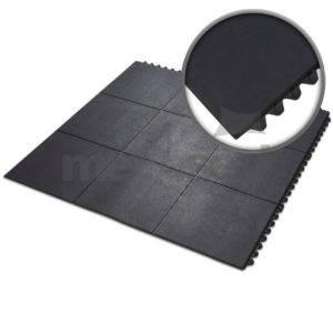 Dalles caoutchouc clipsables SBR DC - CL / SBR / épaisseur 12 - 18 mm