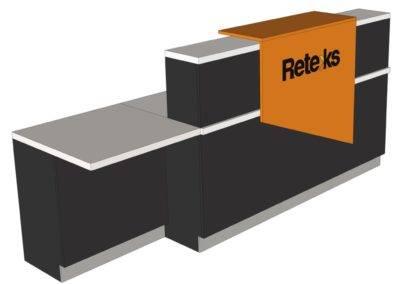 Comptoir d'accueil 2 blocs
